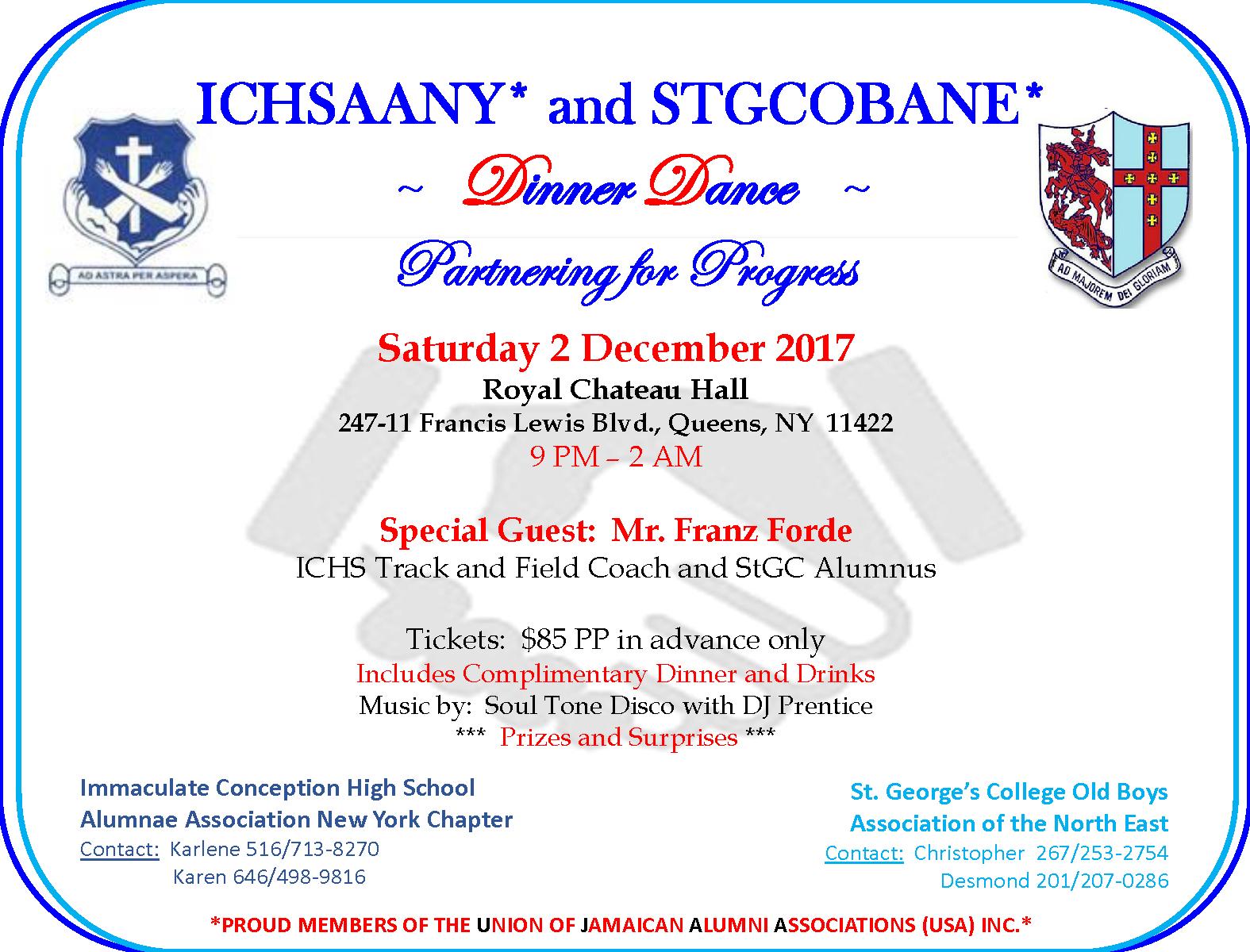 ICHSAANY & STGCOBANE Dinner Dance 2017 – ICHS Alumnae